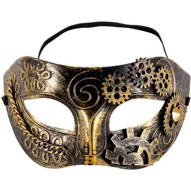 "Maska ""Wenecki Steampunk"", złota, Carnival Toys"