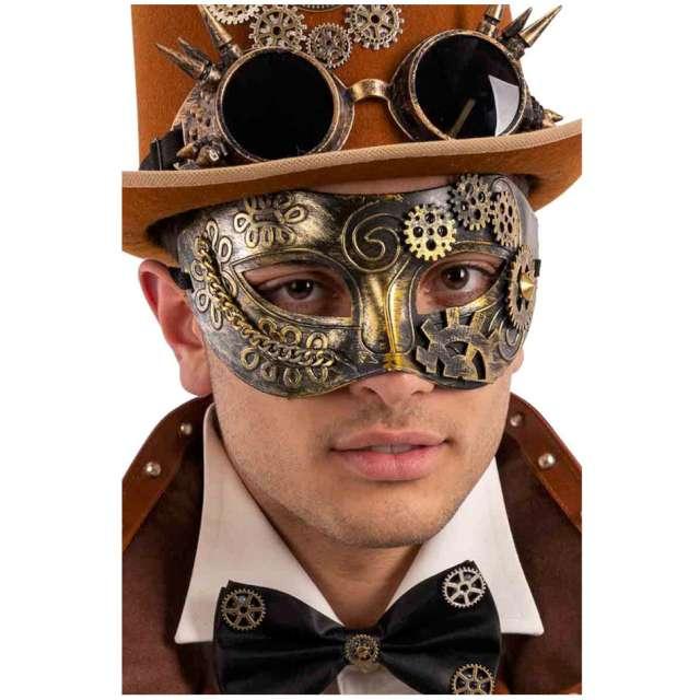 Maska Wenecki Steampunk złota Carnival Toys