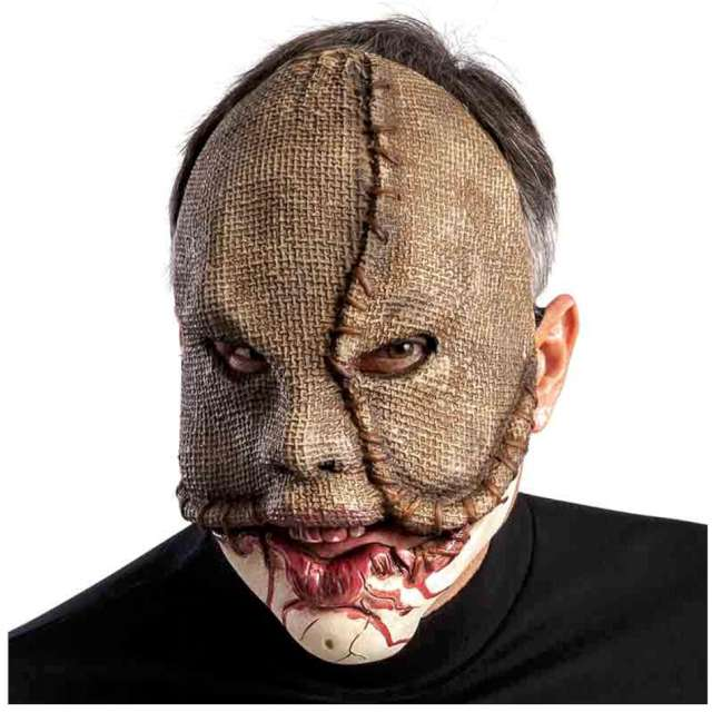Maska Potwór z ruchomą żuchwą jutowa Carnival Toys