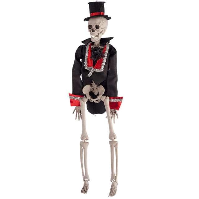 "Dekoracja ""Szkielet elegancika"", Carnival Toys, 40 cm"