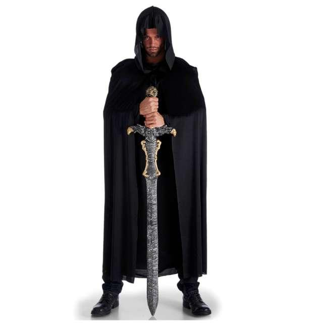 Strój dla dorosłych Peleryna z kapturem czarna Carnival Toys