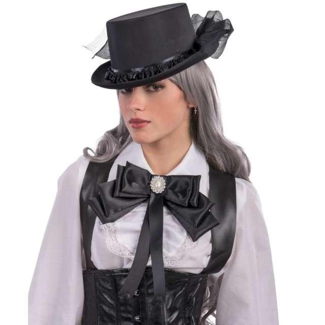 Mucha damska Kokardka z kameą czarna Carnival Toys