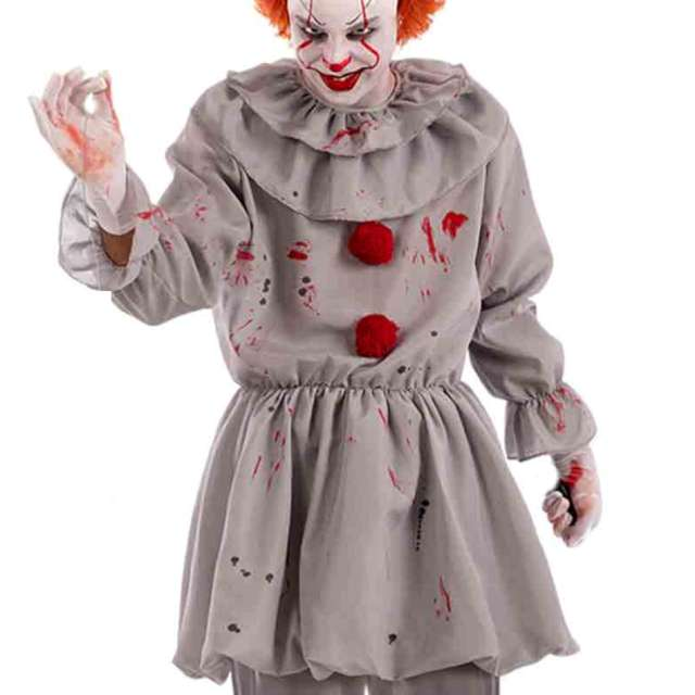 "Strój dla dorosłych ""Klaun terrorysta"", szary, Carnival Toys, rozm. M/L"