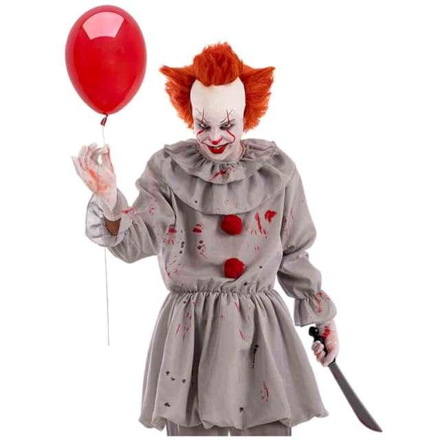 Strój dla dorosłych Klaun terrorysta szary Carnival Toys rozm. M/L