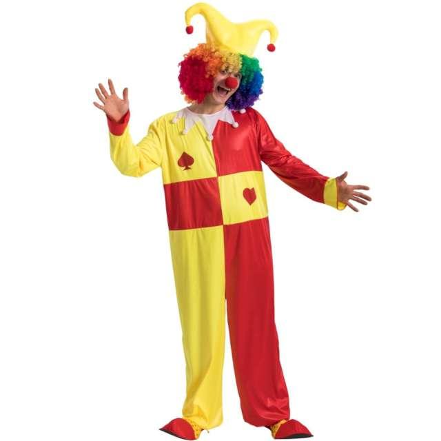 Strój dla dorosłych Wesoły klaun czerwono-żółty Carnival Toys rozm. M/L