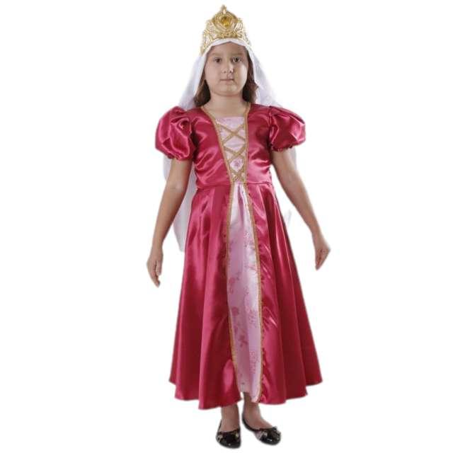 """Strój dla dzieci """"Królowa Jadwiga"""", różowy, Kraszek, 122/128 cm"""