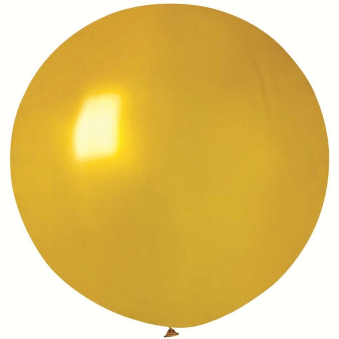 Balon Kula Olbrzym Metaliczna złoty Gemar 26