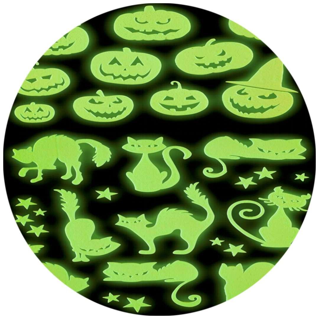 "Naklejki fluorescencyjne ""Halloween"", zielone, Widmann"