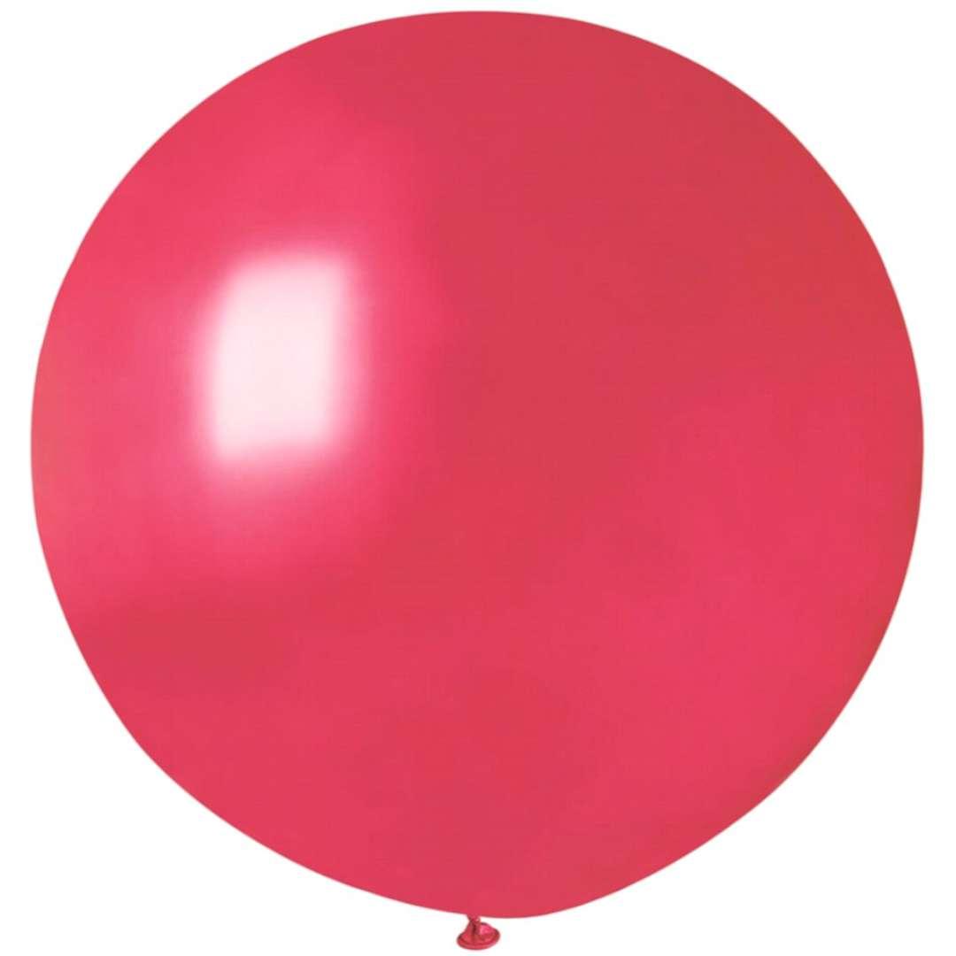 Balon Kula Olbrzym Metaliczna czerwony Gemar 26