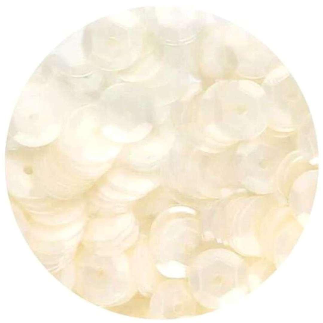 Cekiny Classic Matowe białe 6 mm Brewis 10 g