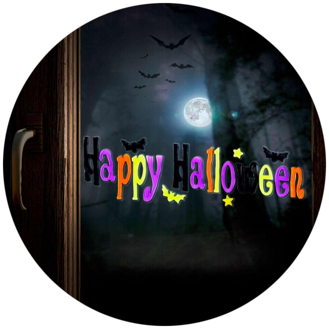 Naklejka na okno Happy Halloween Widmann