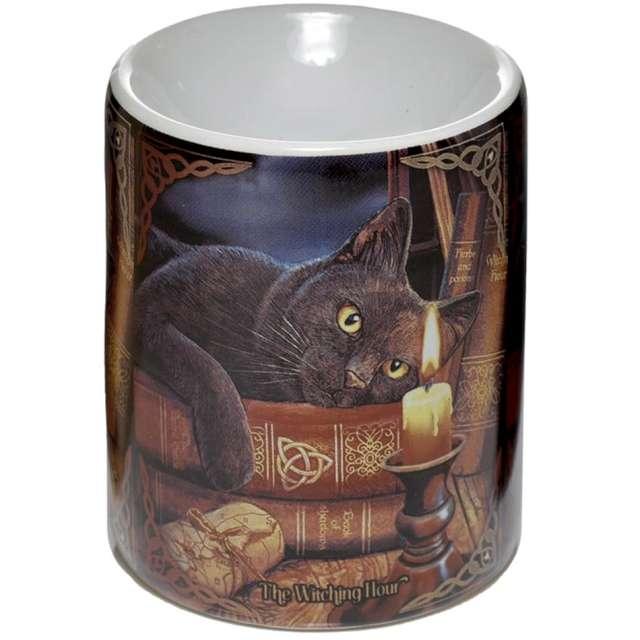 """Kominek ceramiczny """"Do olejków - Kot i świeca"""", Puckator"""