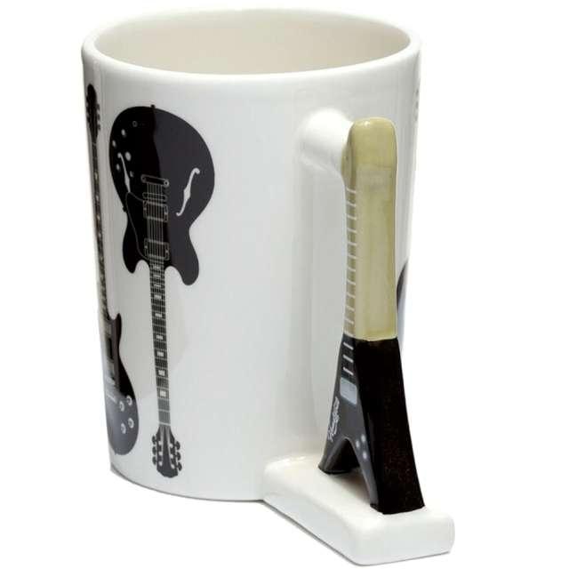 Kubek Gitara elektryczna biało-czarny Kemiś 400 ml