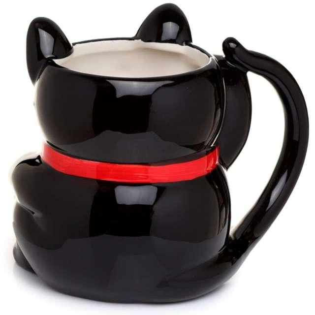 Kubek Kot Szczęścia czarny Kemiś 450 ml