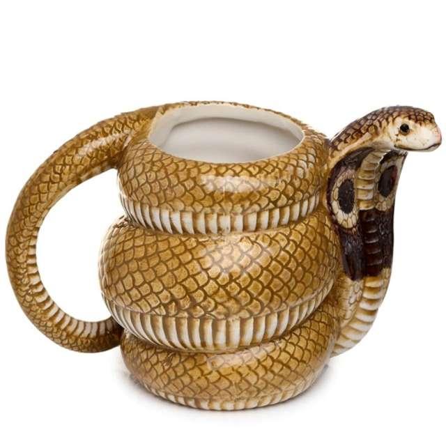 """Kubek """"Wąż - Kobra"""", piaskowy, Kemiś, 350 ml"""