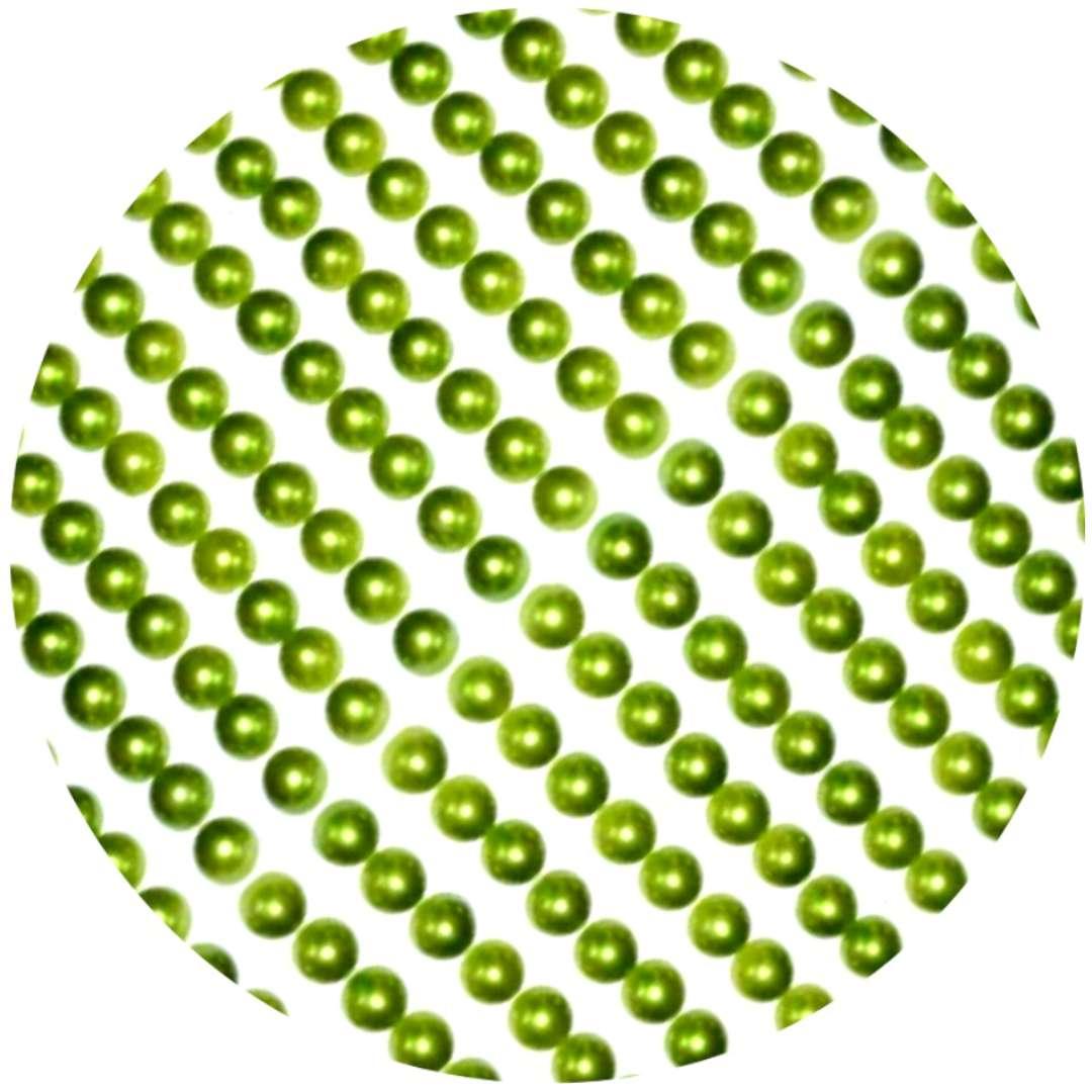 """Dżety samoprzylepne """"Perełki 3D okrągłe"""", zielone, Brewis"""
