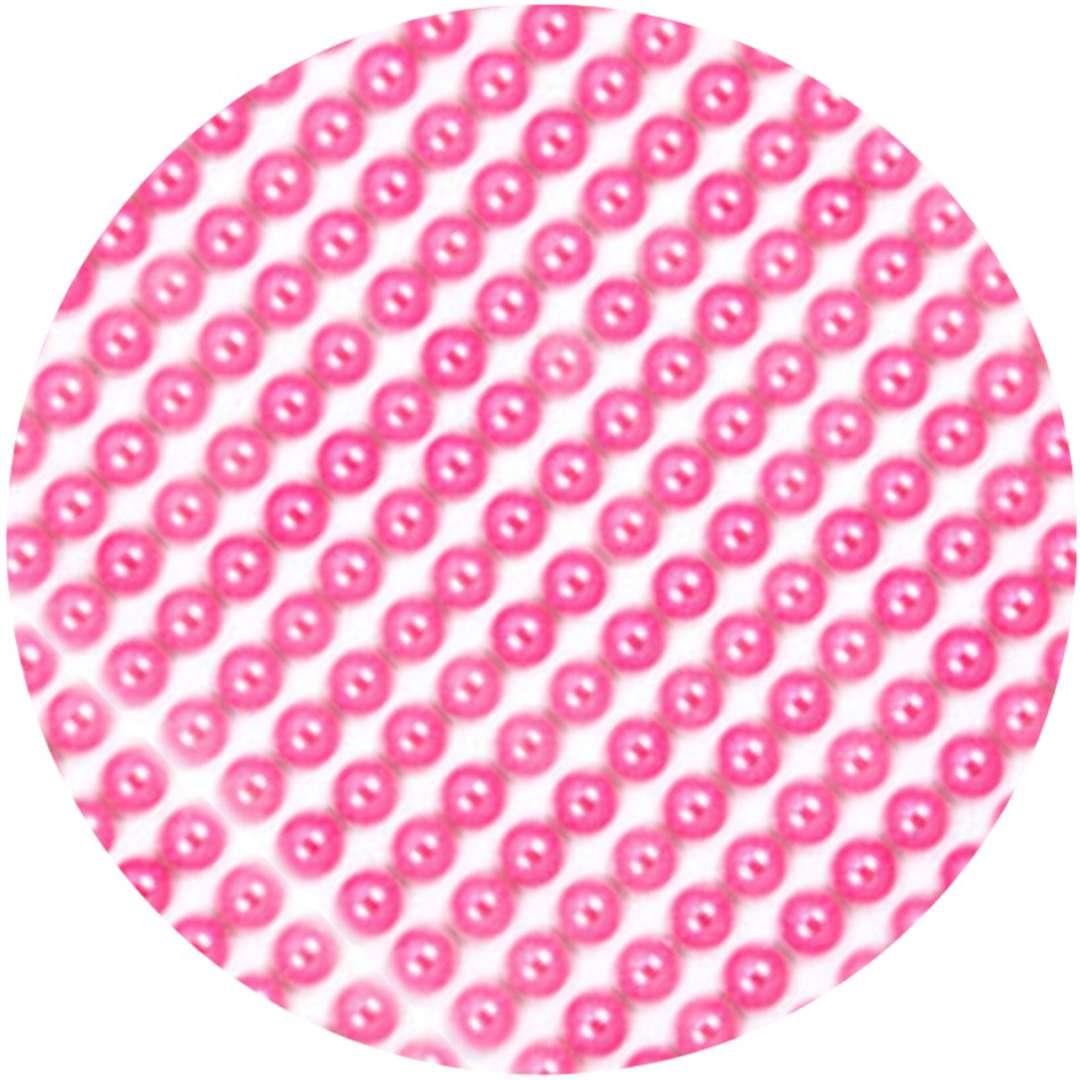 """Dżety samoprzylepne """"Perełki 3D okrągłe"""", różowe, Brewis"""