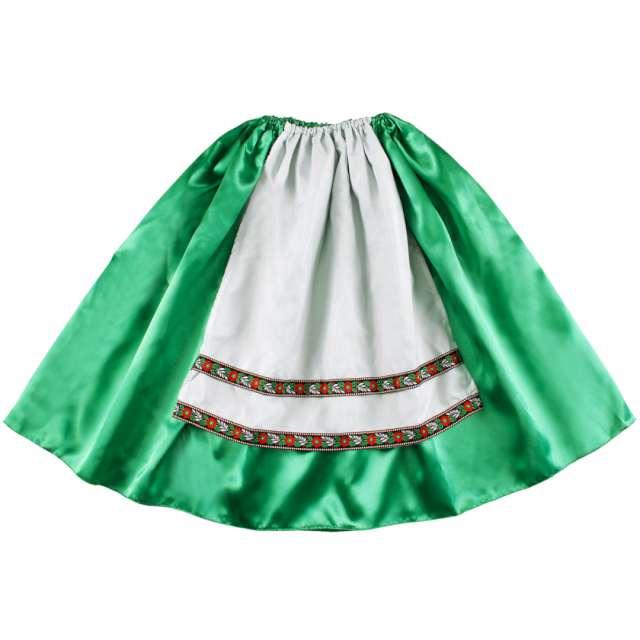 """Spódniczka """"Góralka w fartuszku"""", zielona, Kraszek, 134/140"""