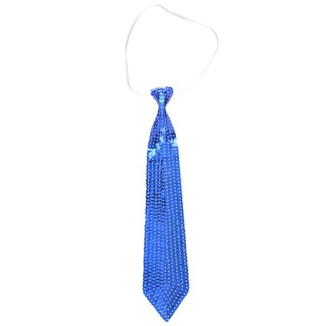 Krawat Cekinowe Disco niebieski ARPEX