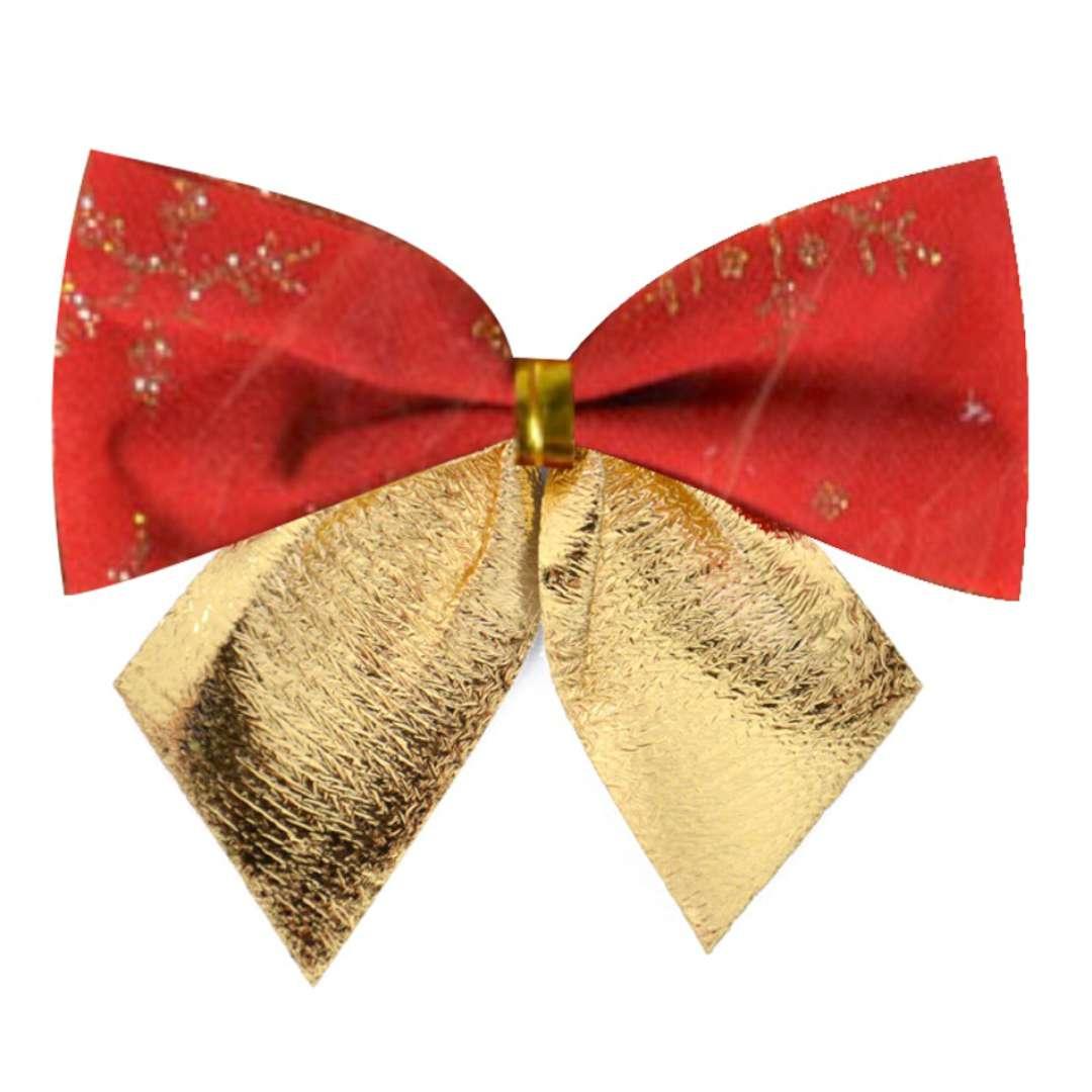 Kokardy Classic ze złotym nadrukiem czerwono-złote Arpex 12 szt