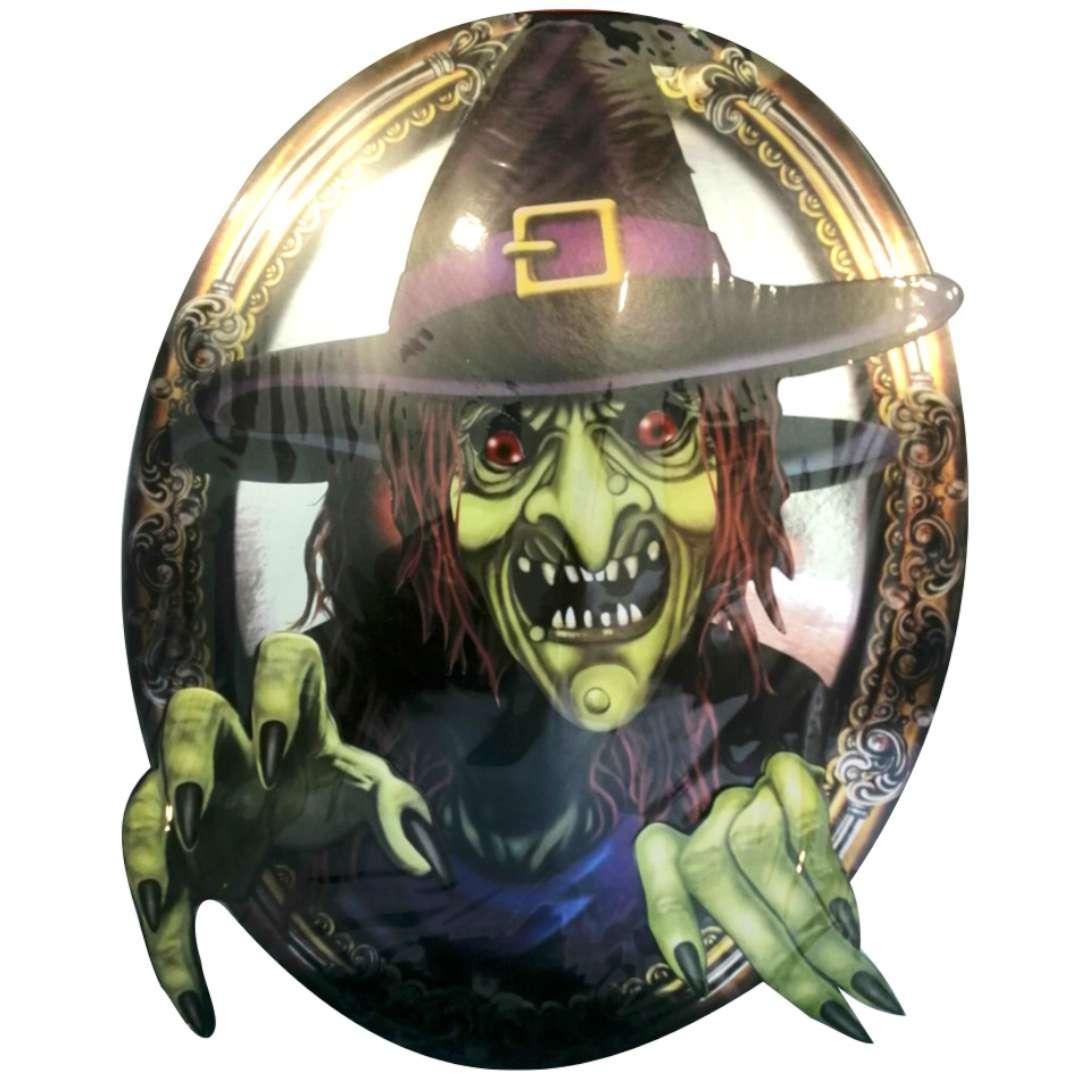 """Dekoracja """"Halloween - Wiedźma w lustrze"""", Funny Fashion, 28 x 38 cm"""