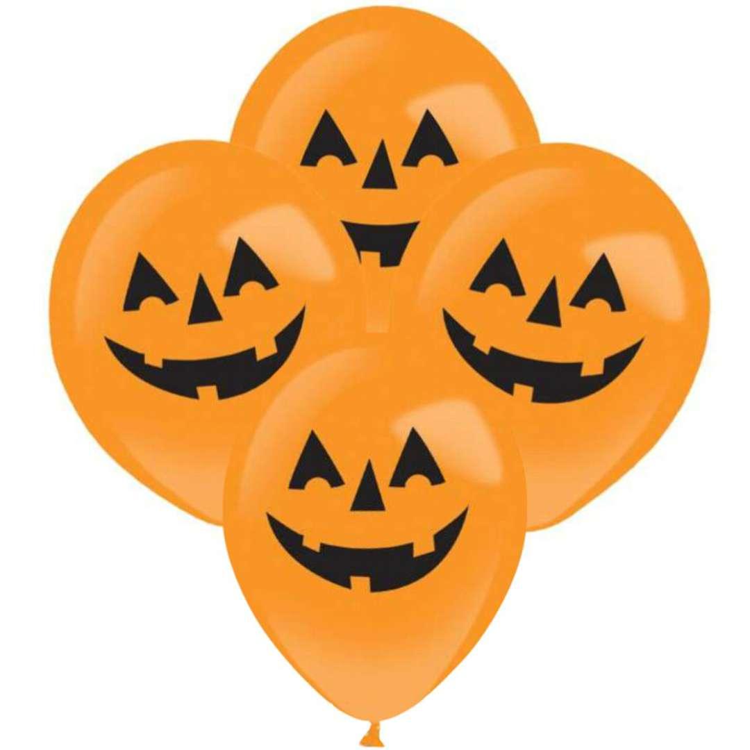 """Balony """"Świecące dynie LED"""", pomarańczowe, AMSCAN, 11"""", 4 szt"""