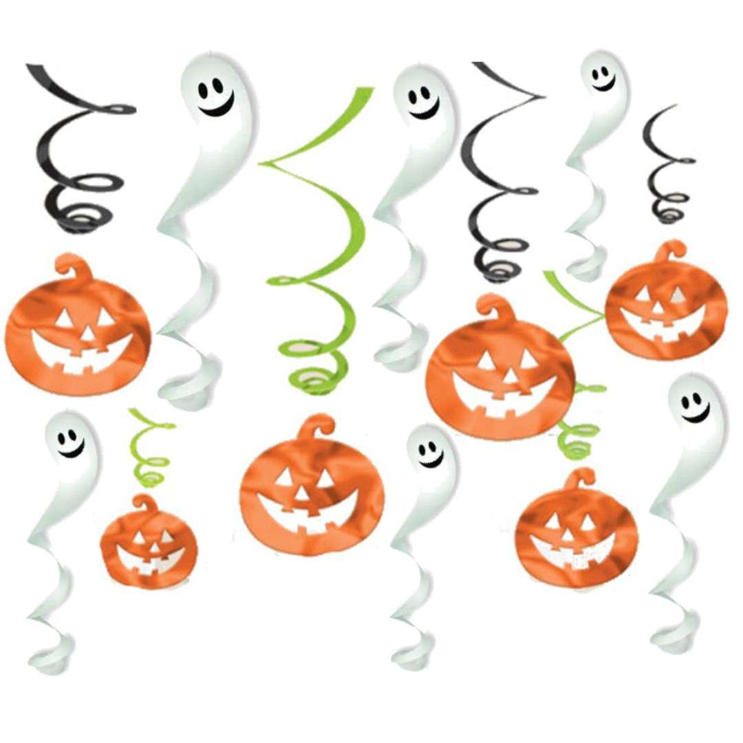 "Dekoracja wisząca ""Świderki - Halloween"", mix, Amscan, 12 szt"