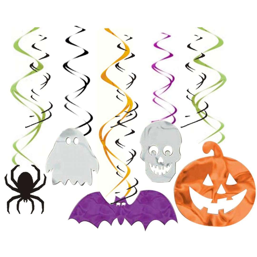 "Dekoracja wisząca ""Świderki - Halloween"", mix, Amscan, 30 szt"