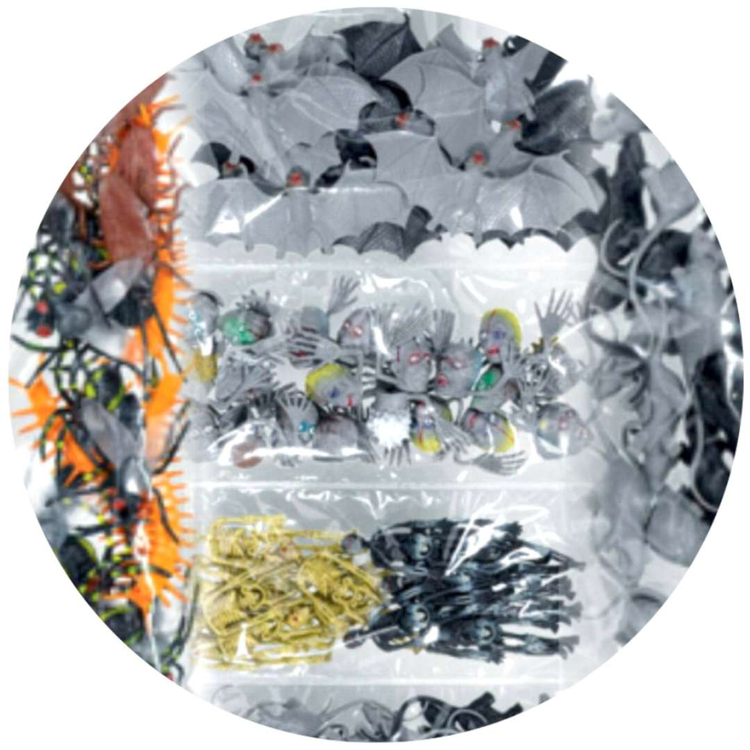 """Konfetti """"Halloween 3D - Zdechłe robaki i kościotrupy"""", mix, Arpex, 100 szt"""