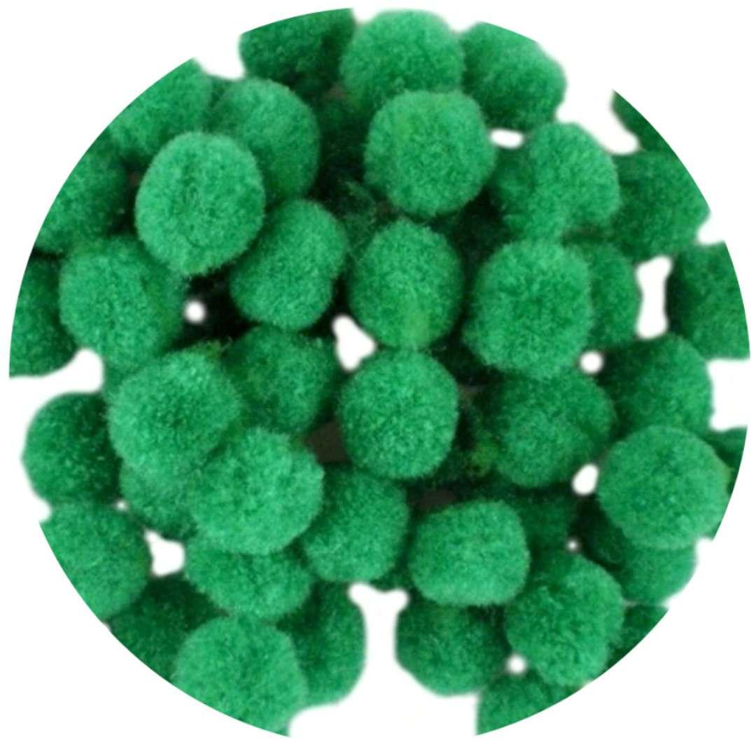 """Pompony dekoracyjne """"Pluszowe"""", zielone, Godan, 10 szt"""
