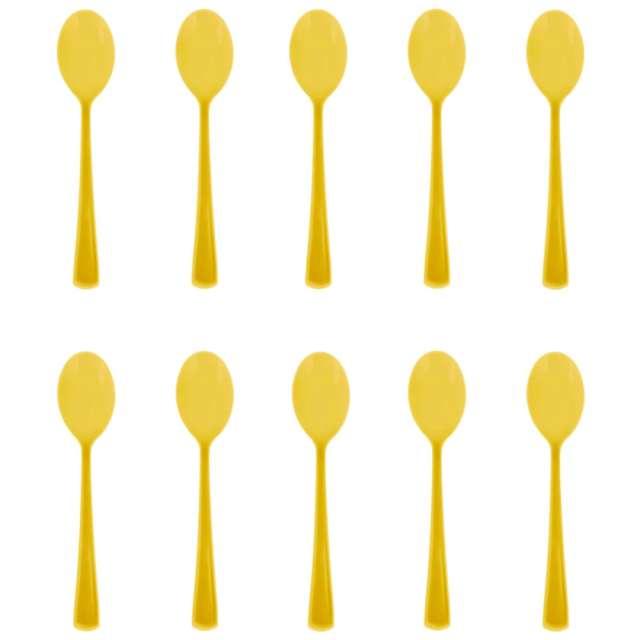 """Łyżki plastikowe """"Classic"""", żółte, PartyPal, 10 szt"""
