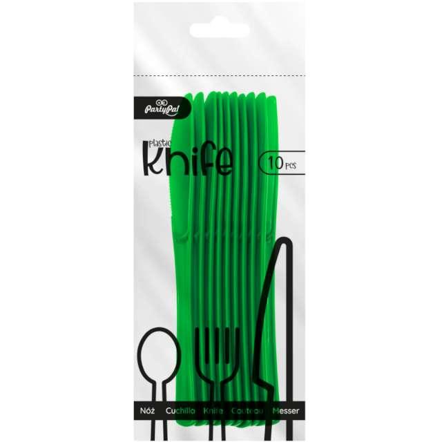 Noże plastikowe Classic zielone ciemne PartyPal 10 szt