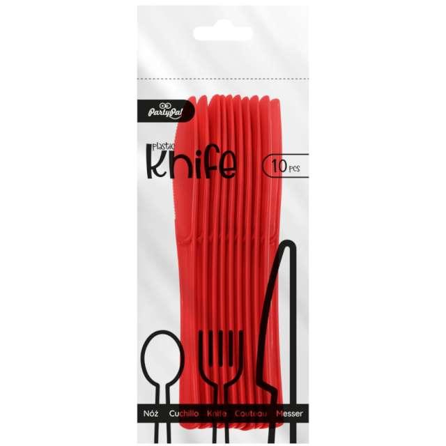 Noże plastikowe Classic czerwone PartyPal 10 szt