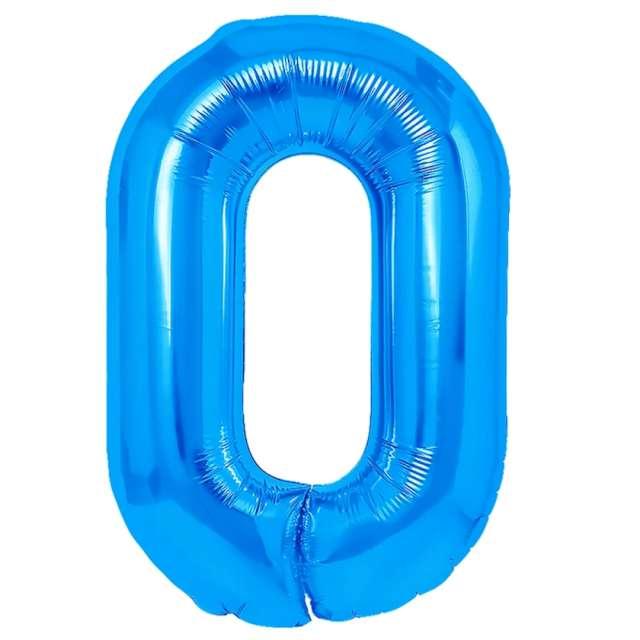 Balon foliowy Cyfra 0 niebieski PartyPal 16