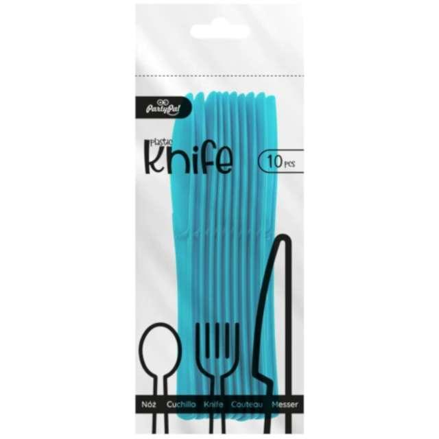 Noże plastikowe Classic niebieskie PartyPal 10 szt