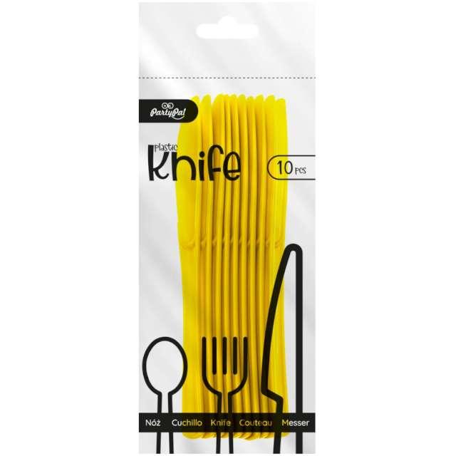 Noże plastikowe Classic żółte PartyPal 10 szt