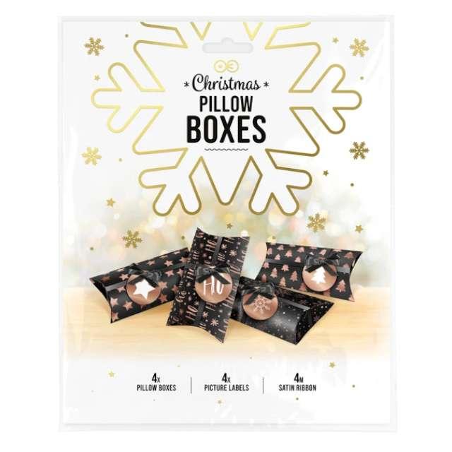 Pudełeczka dla gości Merry Xmas - DIY czarne PartyPal 4 szt