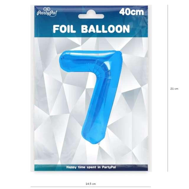 Balon foliowy Cyfra 7 niebieski PartyPal 16