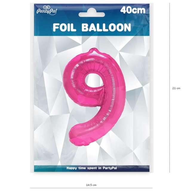 Balon foliowy Cyfra 9 fuksja PartyPal 16