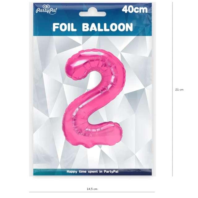 Balon foliowy Cyfra 2 fuksja PartyPal 16