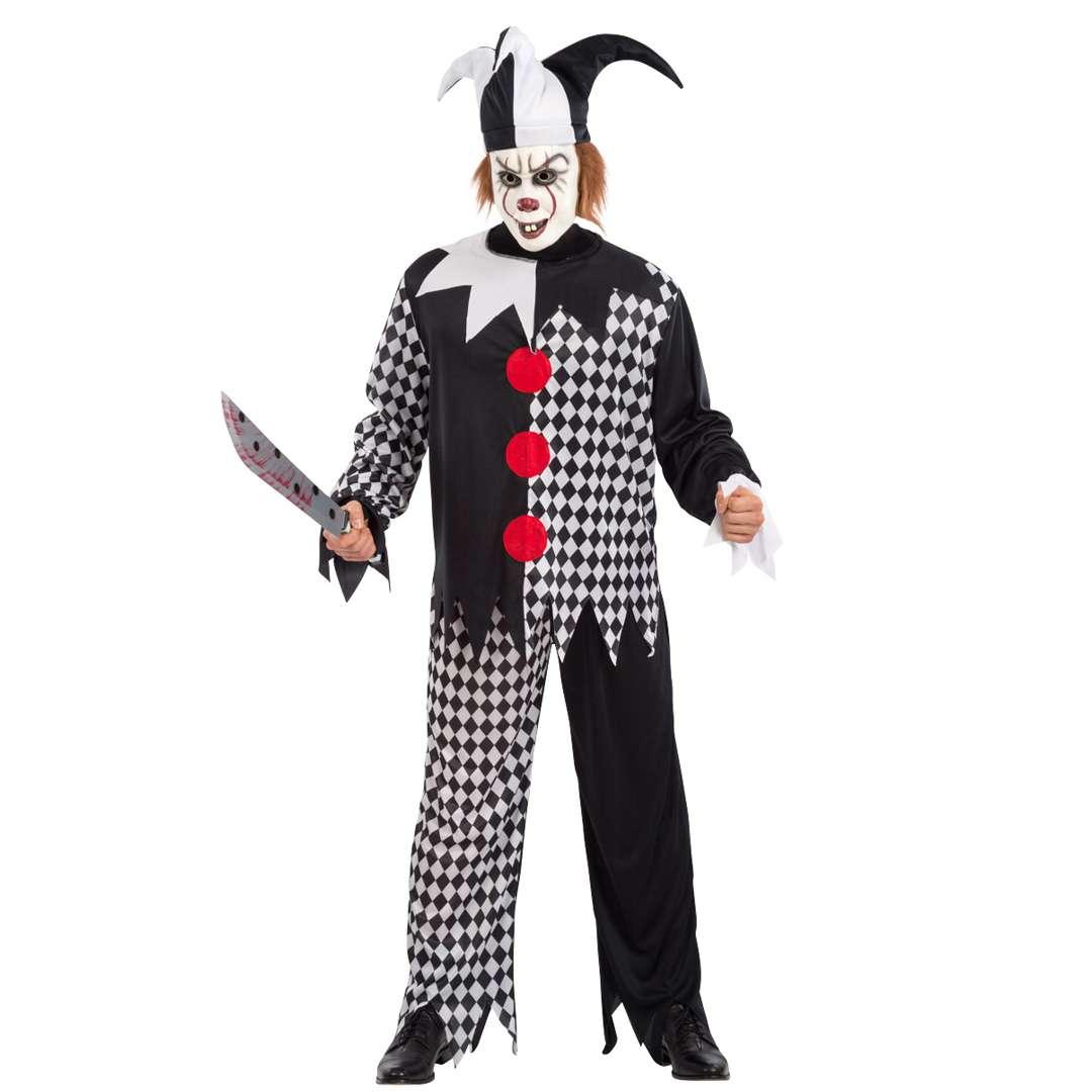 """Strój dla dorosłych """"Błazen morderca"""", czarno-biały, Carnival Toys, rozm. M/L"""