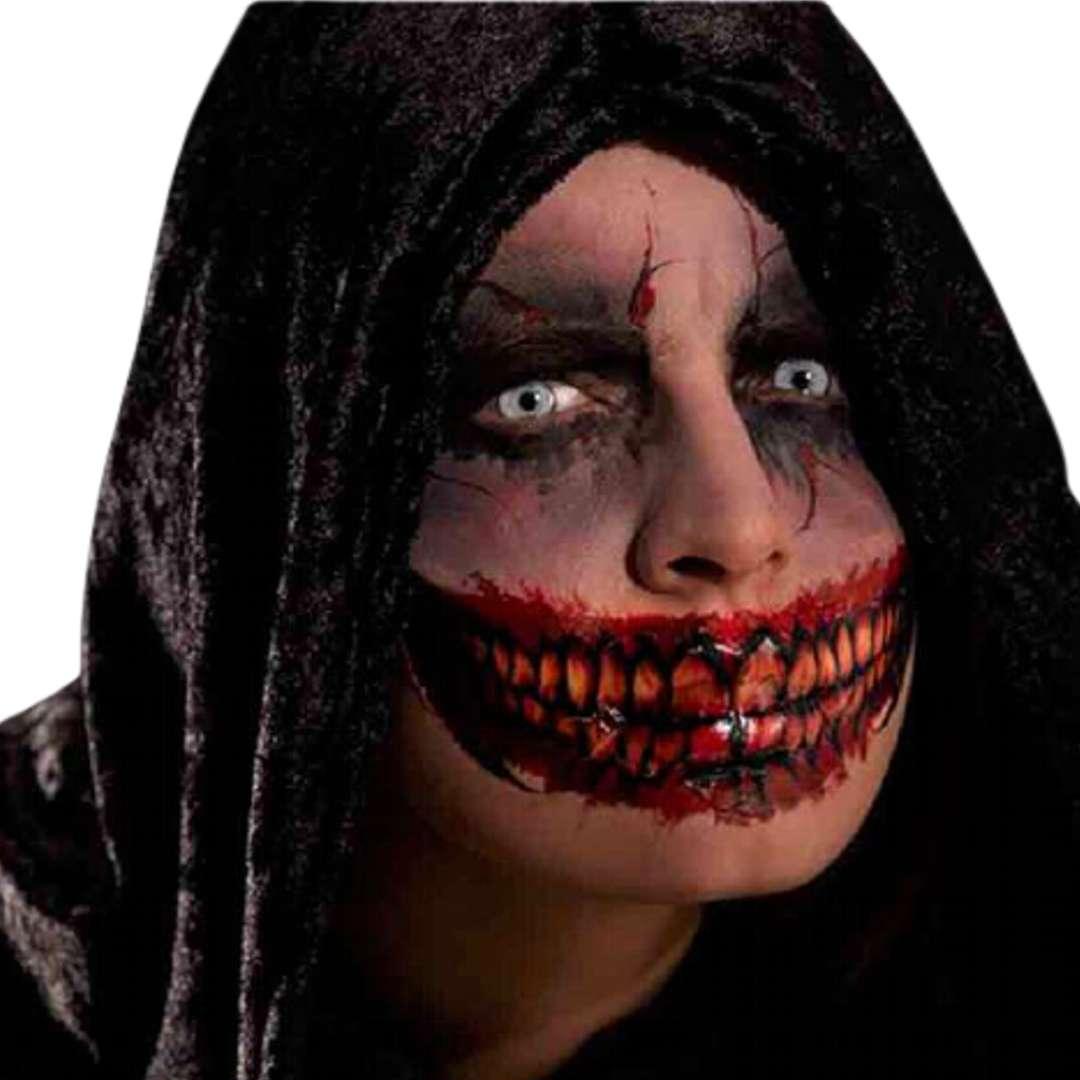 """Make-up party """"Tatuaż  zęby - naklejka """", czerwony, Carnival Toys"""