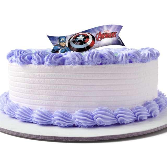 Dekoracja tortu - opłatek Avengers 9 x 3 cm Dekora