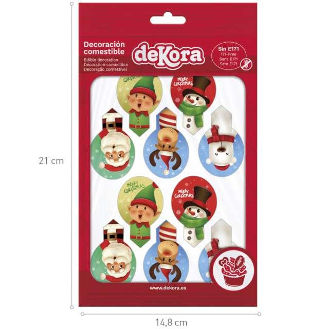Dekoracja na muffinki Postacie Bożonarodzeniowe Dekora 20 szt