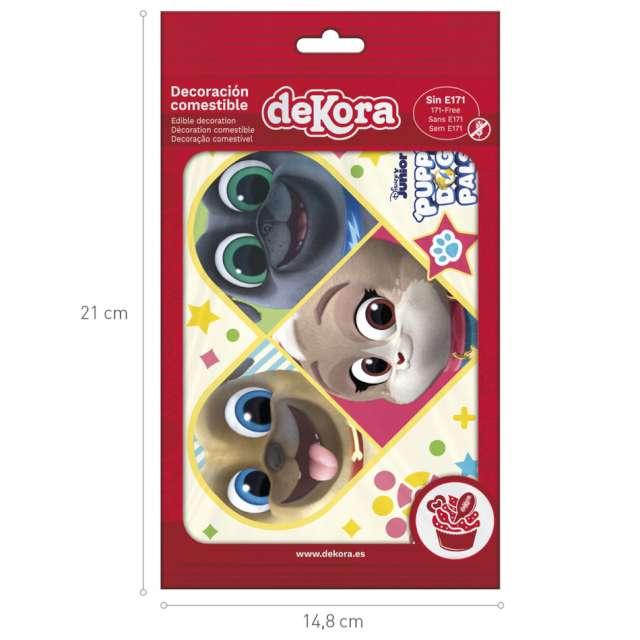 Dekoracja tortu - opłatek Bingo i Rolly w akcji 15x21 cm Dekora