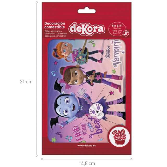 Dekoracja tortu - opłatek Vampirina i przyjaciele 15x21 cm Dekora