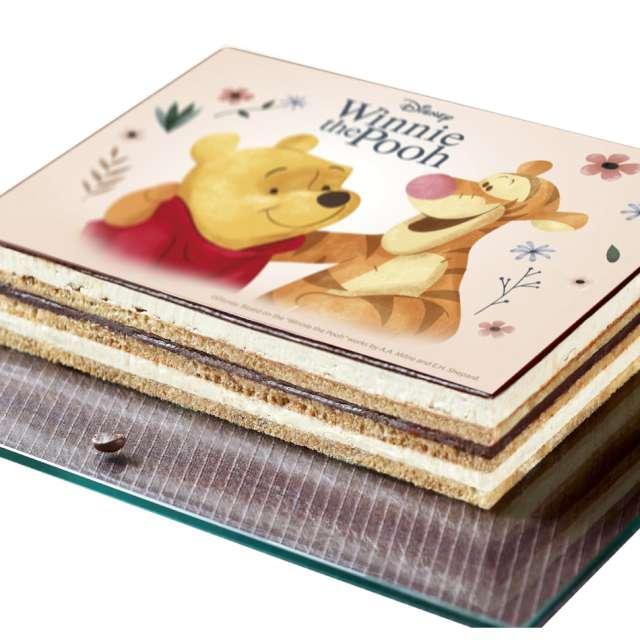 Dekoracja tortu - opłatek Kubuś Puchatek i tygrysek 15x21 cm Dekora