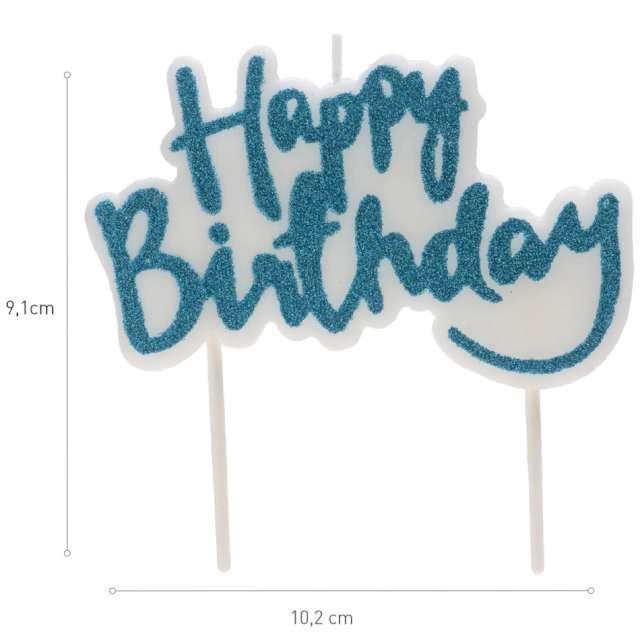 _xx_HAPPY BIRTHDAY BLUE CANDLE 10X65CM