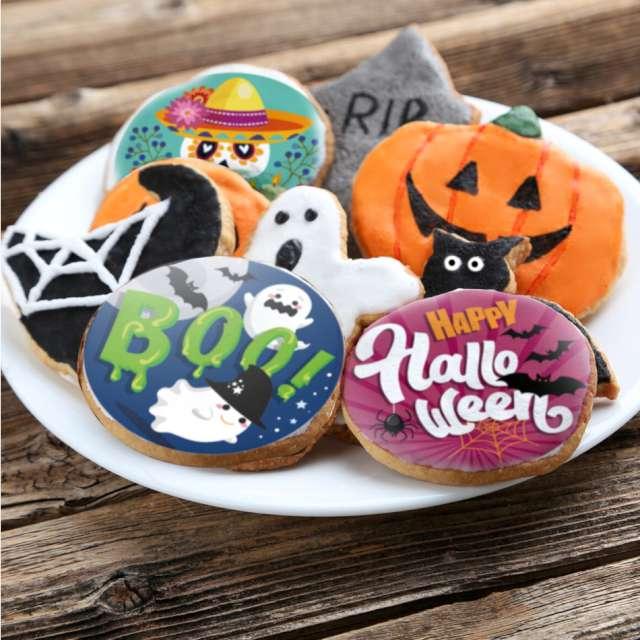 Dekoracja na Muffinki Halloween Dekora 12 szt