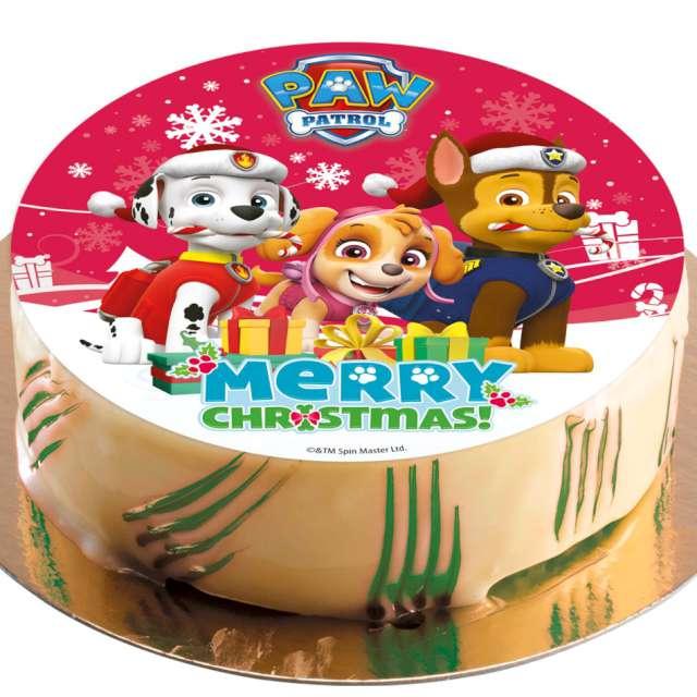_xx_PAW PATROL CHRISTMAS CAKE DECORATING WAFER 20